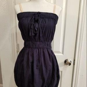 j. crew blue cinched waist mini dress sz xs